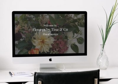 Tina and Co Floral – Website design